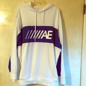 XXXL White/ Blue American Eagle hooded sweatshirt